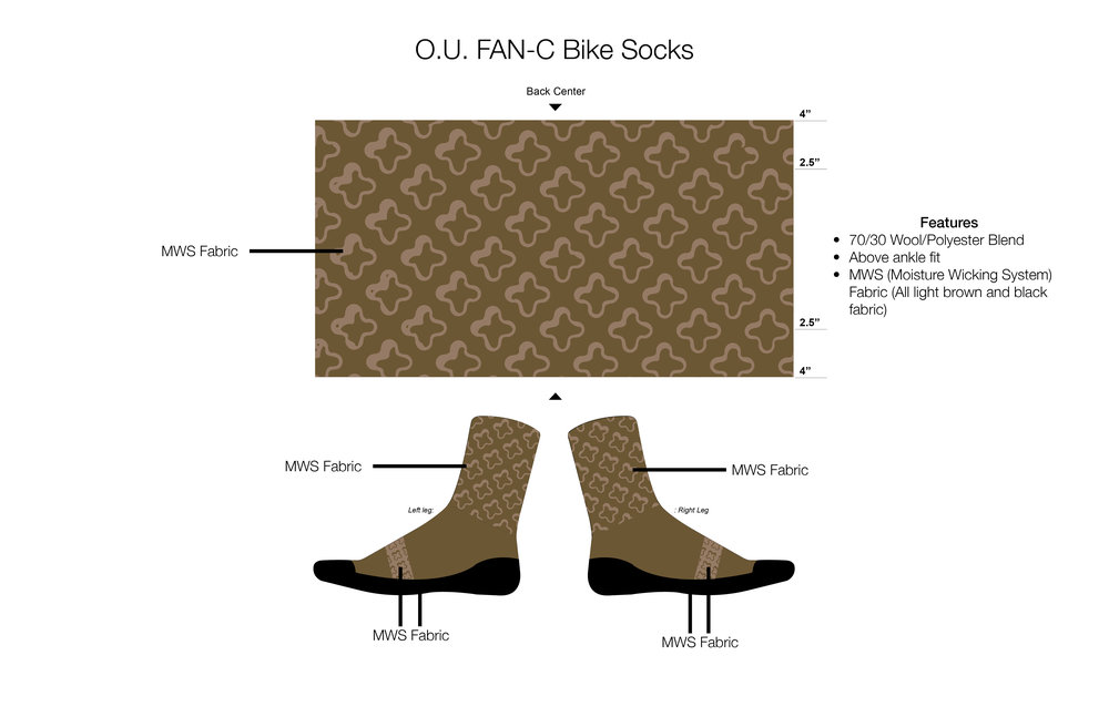 O.U. FAN-C Bike Socks