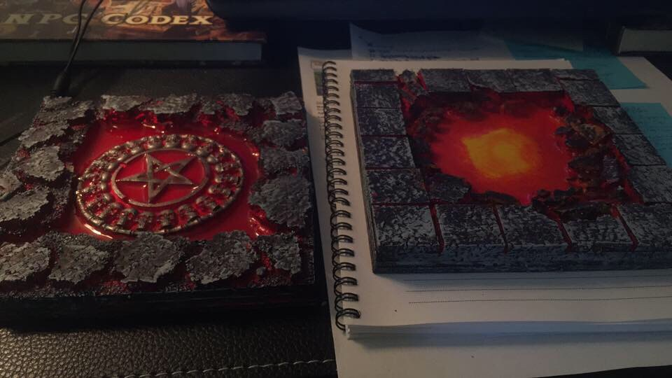 Two tiles I won in the DM's Craft group on Facebook. They are really awesome!