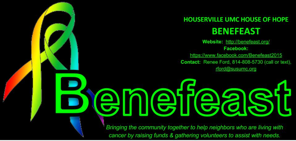 Benefeast is seeking volunteers and nominees as we bring the community together to help neighbors who are living with cancer.