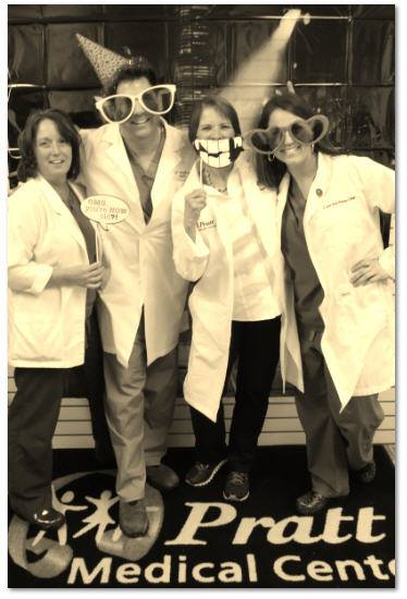 From Left to Right: Julie Weathers, CNM, Dr. Scott Walker, M.D., Brenda Hagan, NP, and Lee-Ann Parker, CNM. Photo taken by Pratt Medical Center for Women- click on picture to go to their Facebook Page