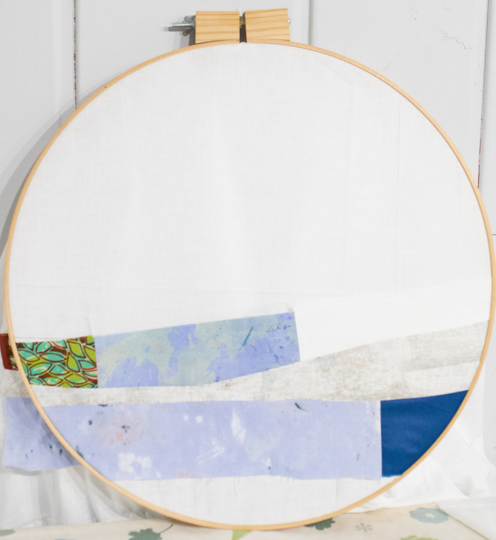 Everything looks better in an embroidery hoop. I promise.