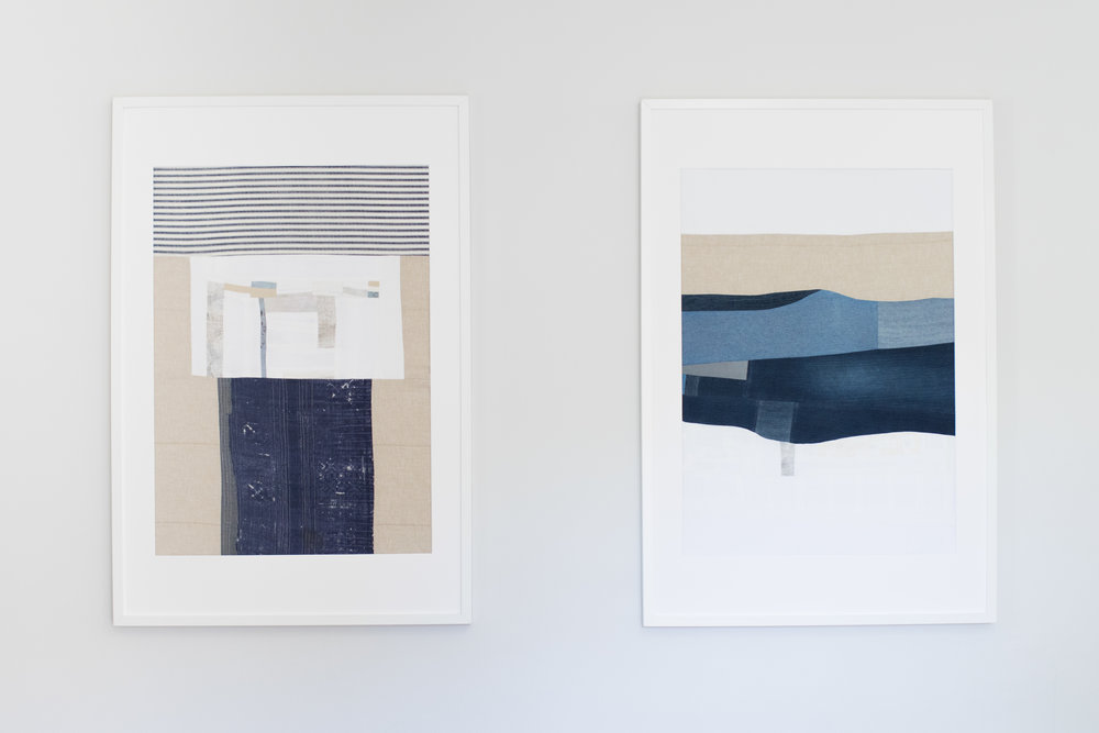 The piece on the left is an homage to Louise Borgeois.