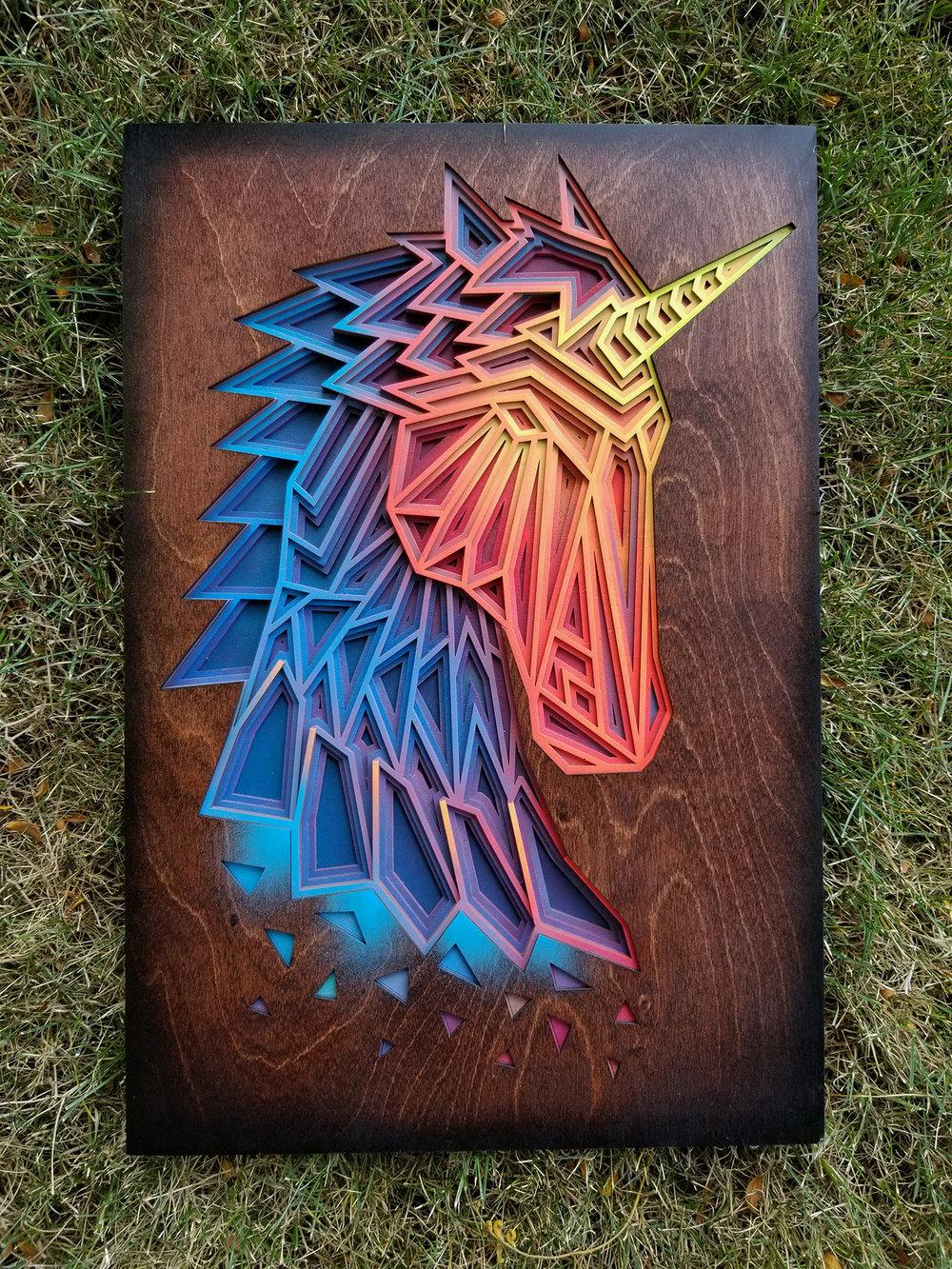 "Vision - Acrylic & Wood - 14"" x 21"""