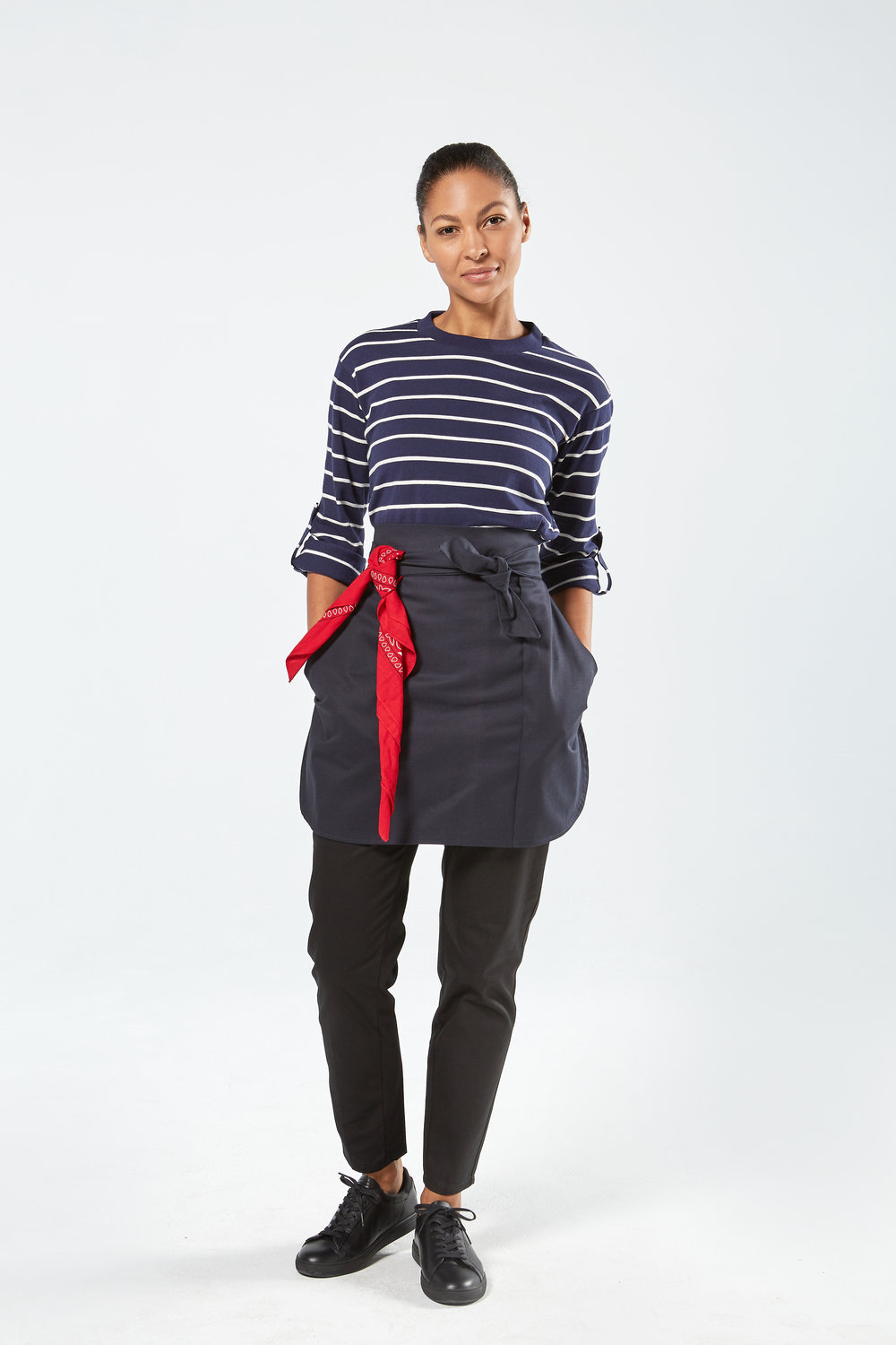 Unisex Short Apron in Navy