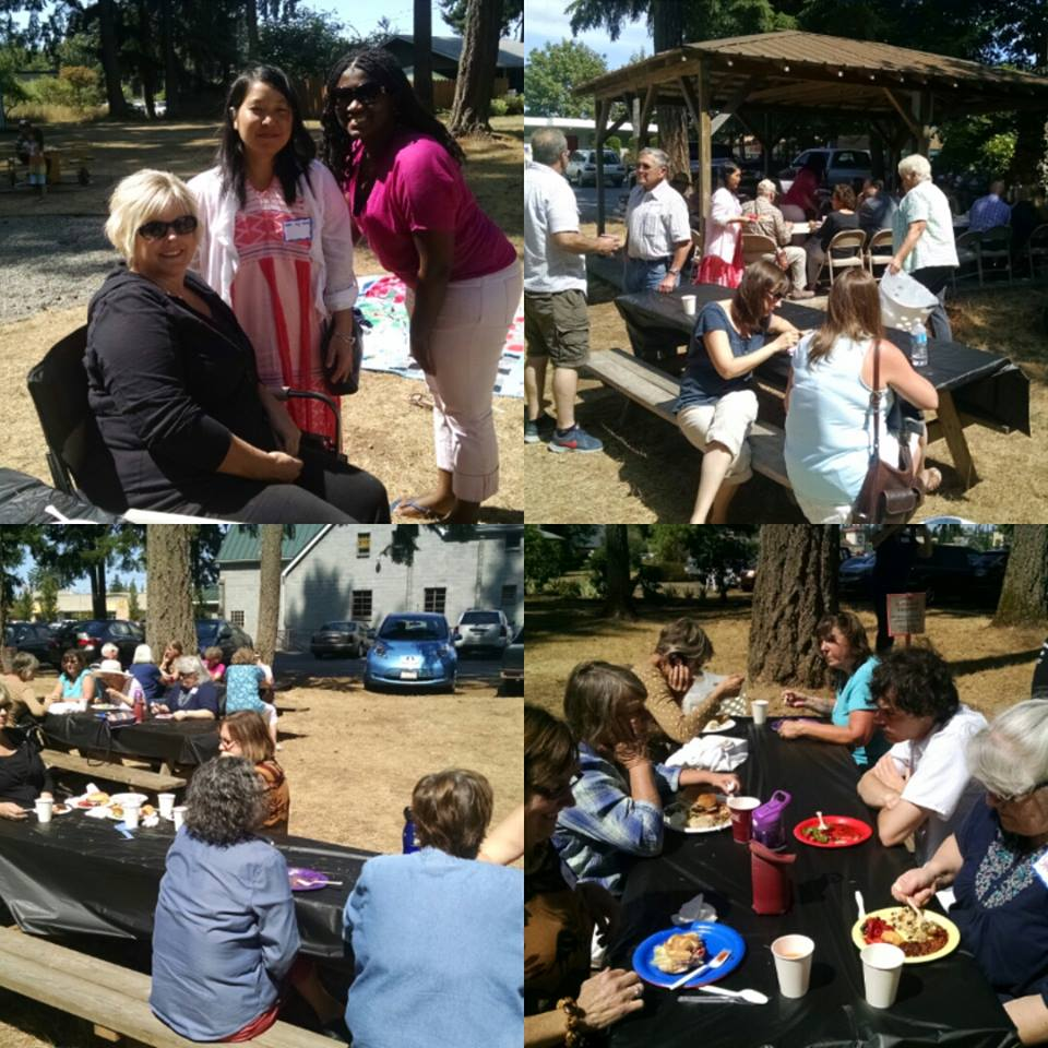 Photos of people grubbing at our annual summer picnic!