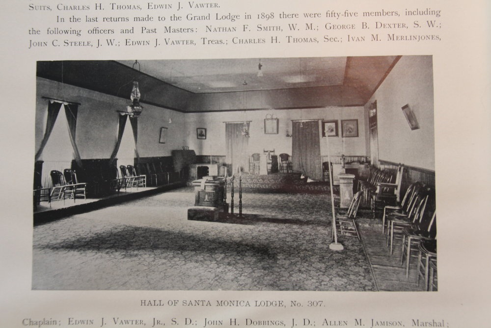 Interior of the first Masonic hall for No. 307