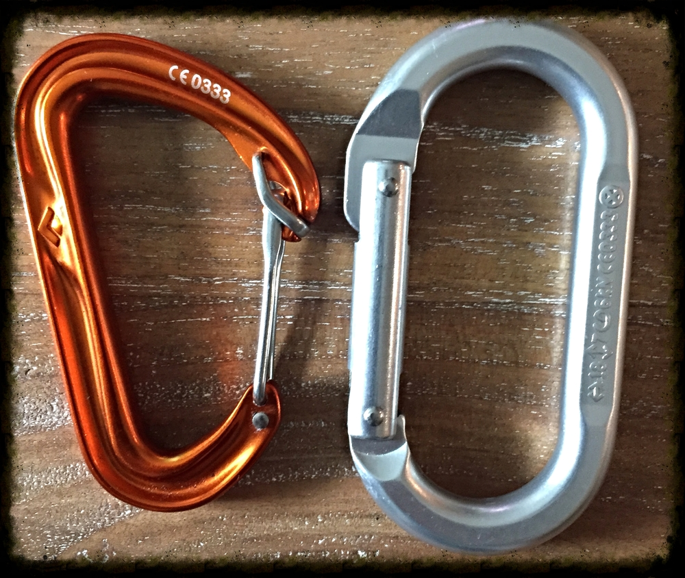 wire gate versus solid gate carabiner