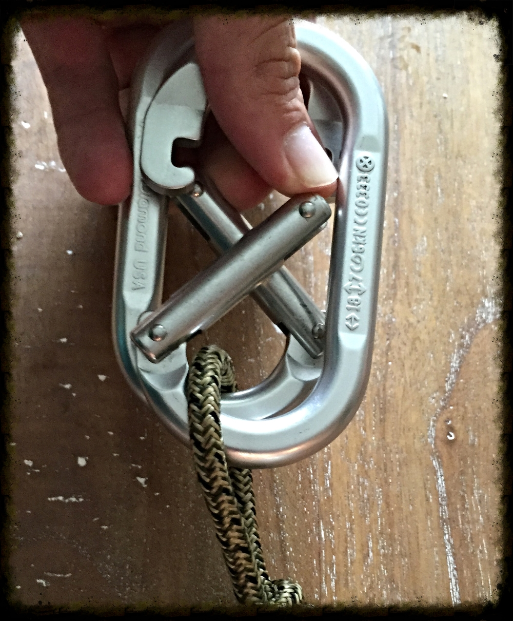 opposite and opposed carabiners