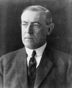 United States President Woodrow Wilson