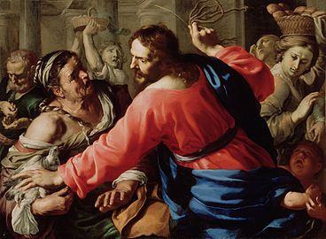 Christ 'cleansing' the temple.