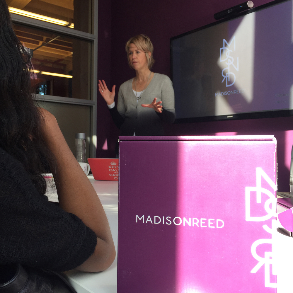 Our final day started with the CMO of Madison Reed. Check them out for great new hair color and online tools.