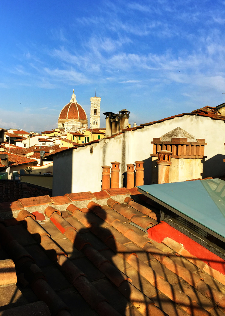 The Duomo from the roof of our hotel at sunset.