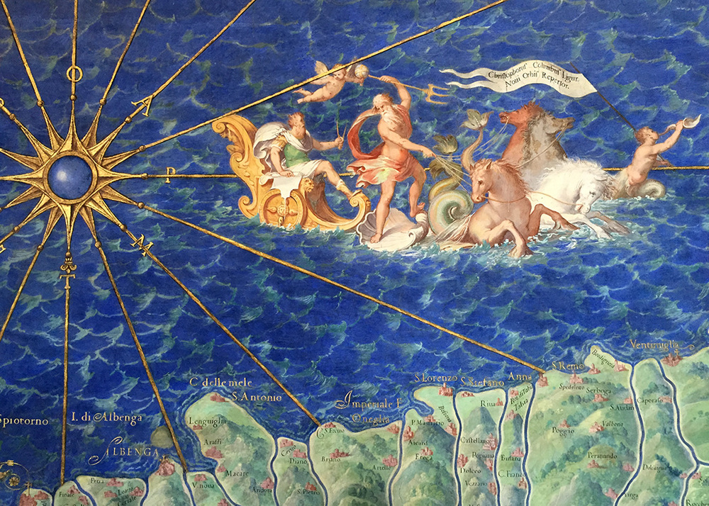 From the Hall of Maps in the Vatican Museums.