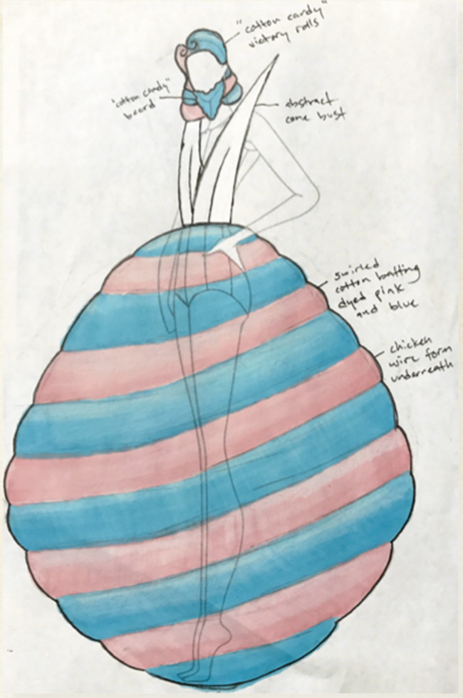 Cotton Candy Lady  Designed by Kyle Howell