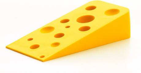 Swiss cheese wedge