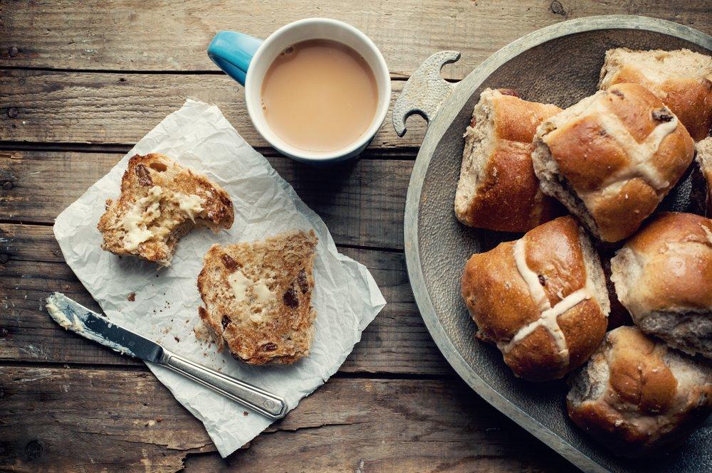 Easter hot cross buns