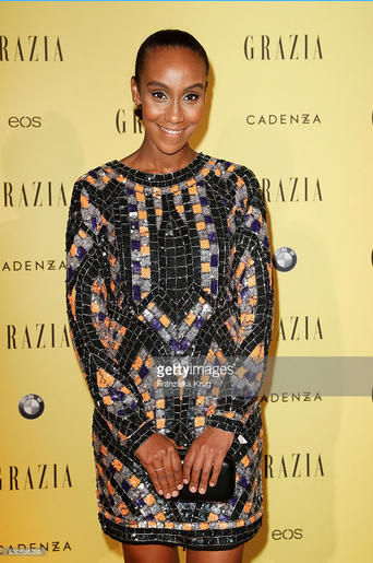 Hadnet Tesfai in asos beim GRAZIA Best Inspiration Award am 11.05.2016