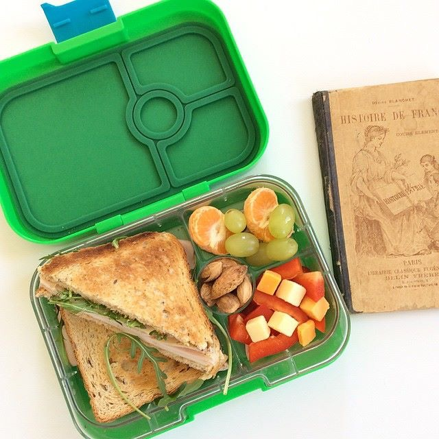 Yumbox Panino in Pomme Green with Toasted Sandwich