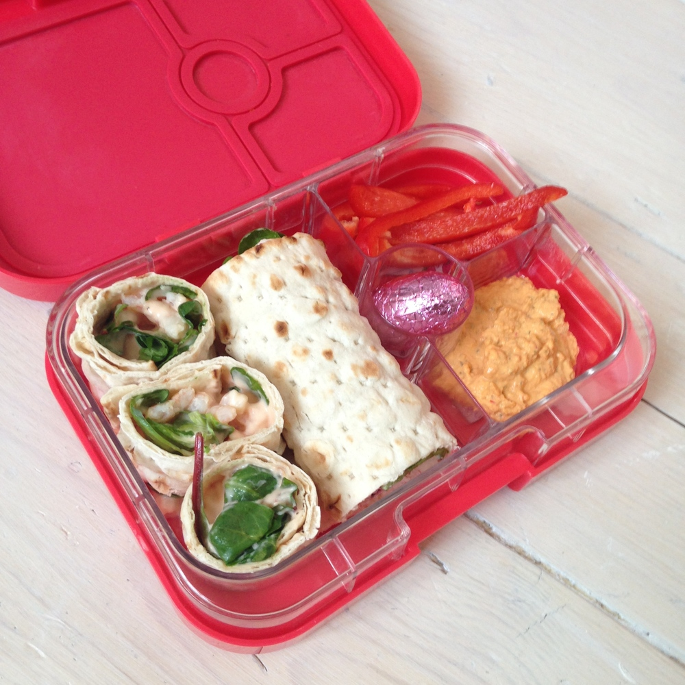Angry Pink Yumbox Panino with wraps