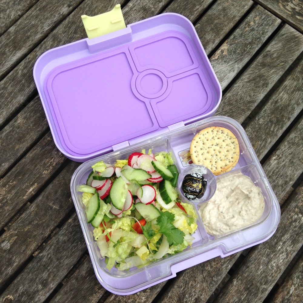 Lavande Purple Yumbox Panino with Jamie Oliver Salad