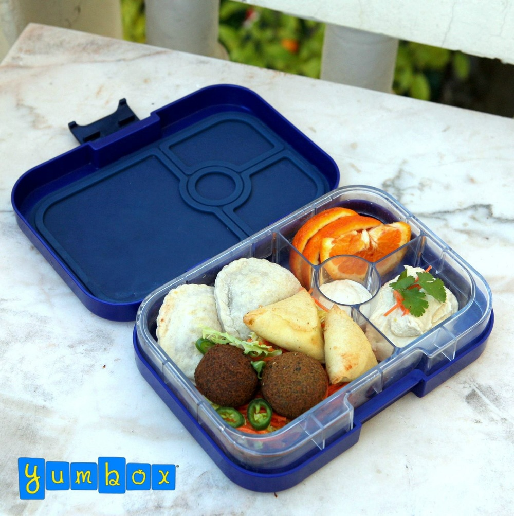 Tutti Frutti Blue Yumbox Panino with Middle Eastern Lunch
