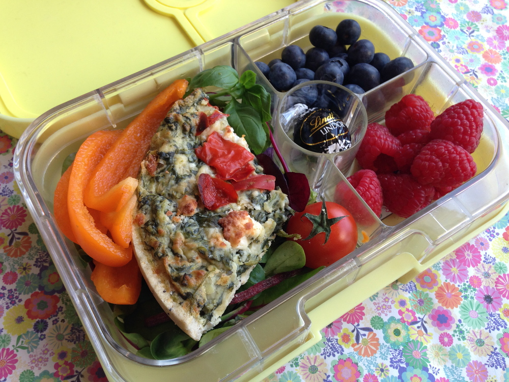 Ananas Yellow Yumbox Panino with Higgidy Quiche