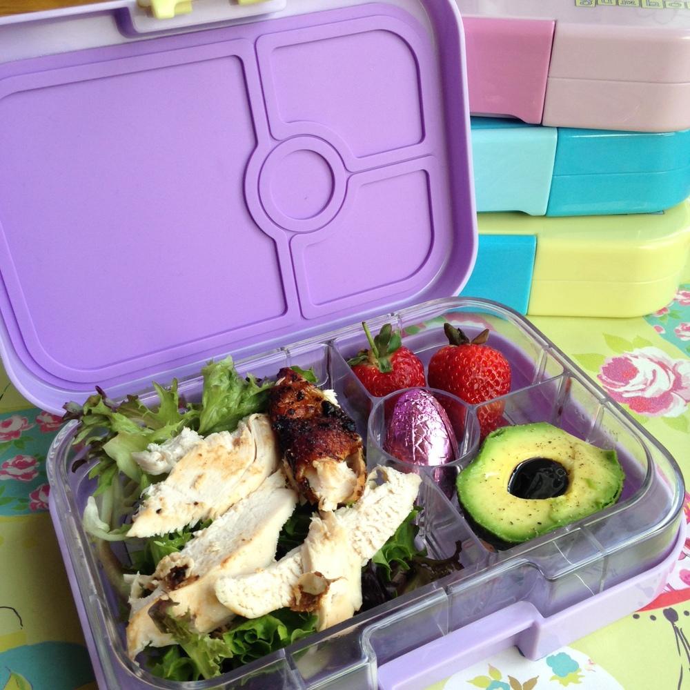 Yumbox Panino in Lavande Purple with Chicken Salad