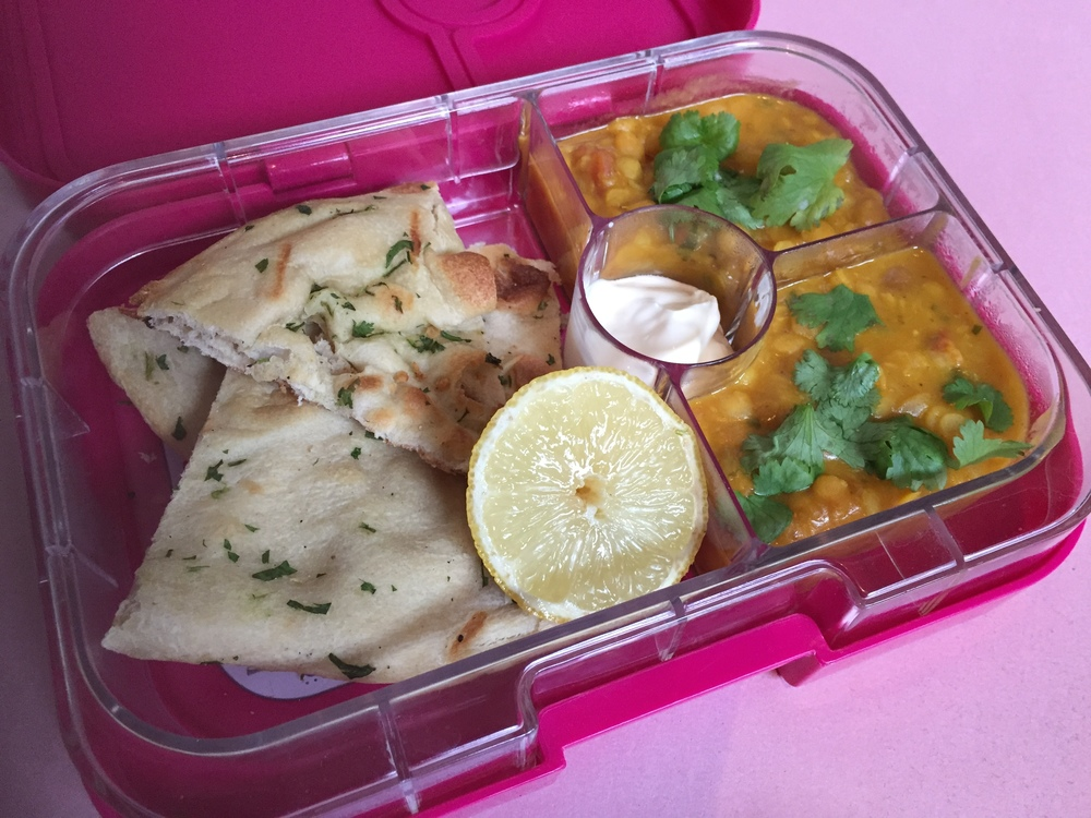 Yumbox with Indian lunch