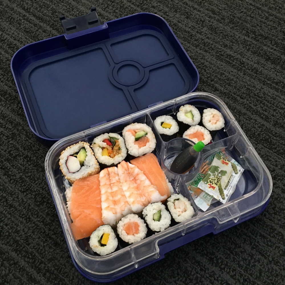 The Yumbox Panino with Sushi