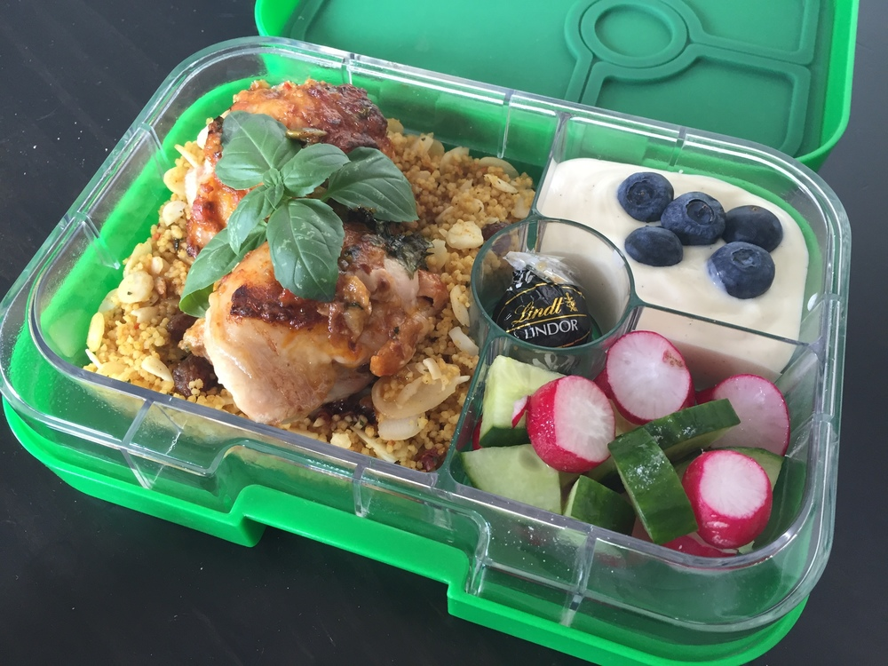 The Yumbox Panino Chicken Leftovers