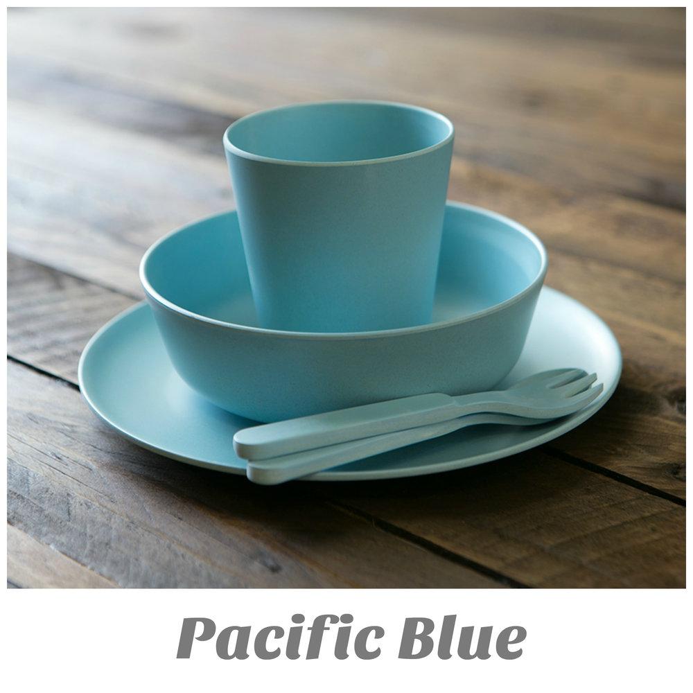 Bamboo Dinner Set - Pacific Blue & Bamboo Dinner Set - Pacific Blue \u2014 EatWell-UK