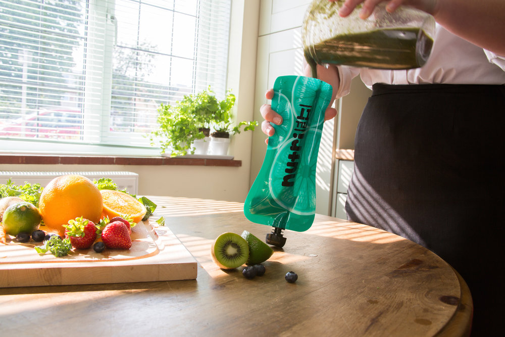 Nutri Fill-It 300ml Reusable Smoothie Pouches