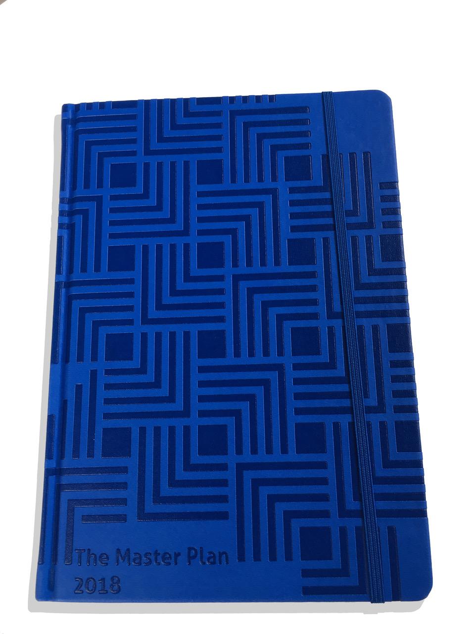 Master Plan Diary 2017 to 2018 Ocean Blue