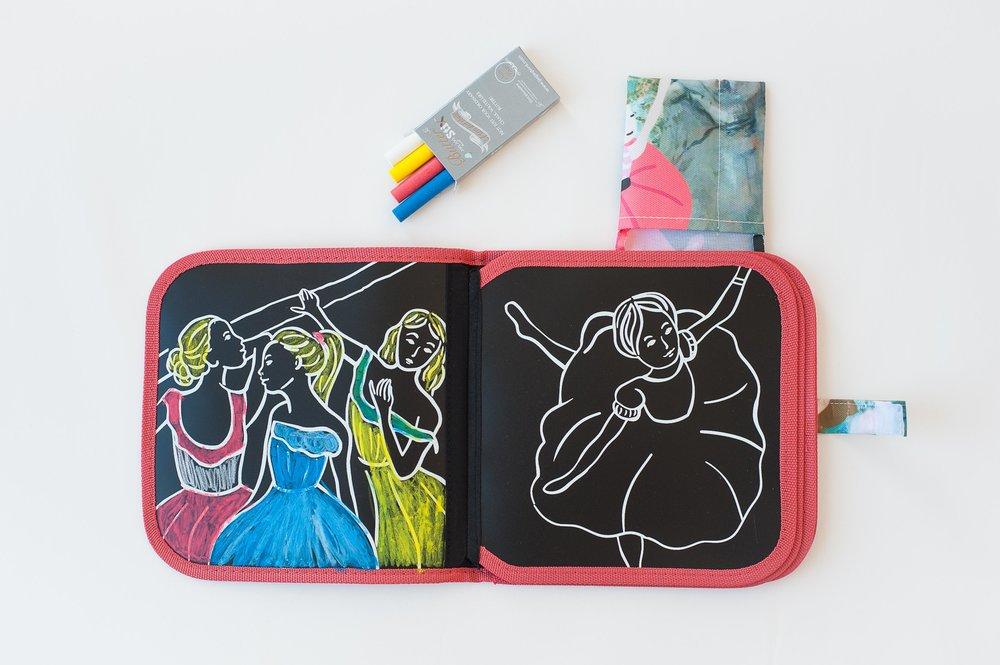 Jaq Jaq Bird Chalk Colour It Book - Degas