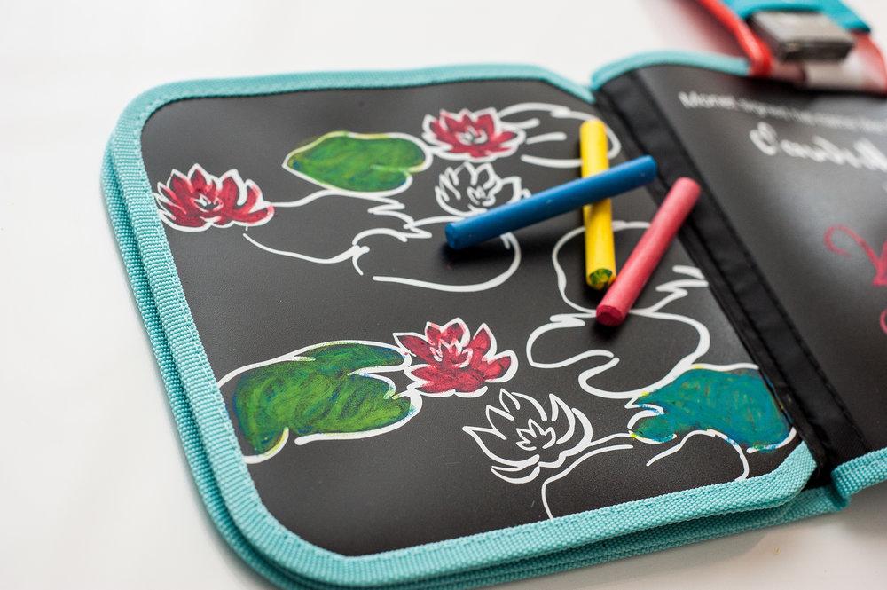 Jaq Jaq Bird Chalk Colour It Book - Monet