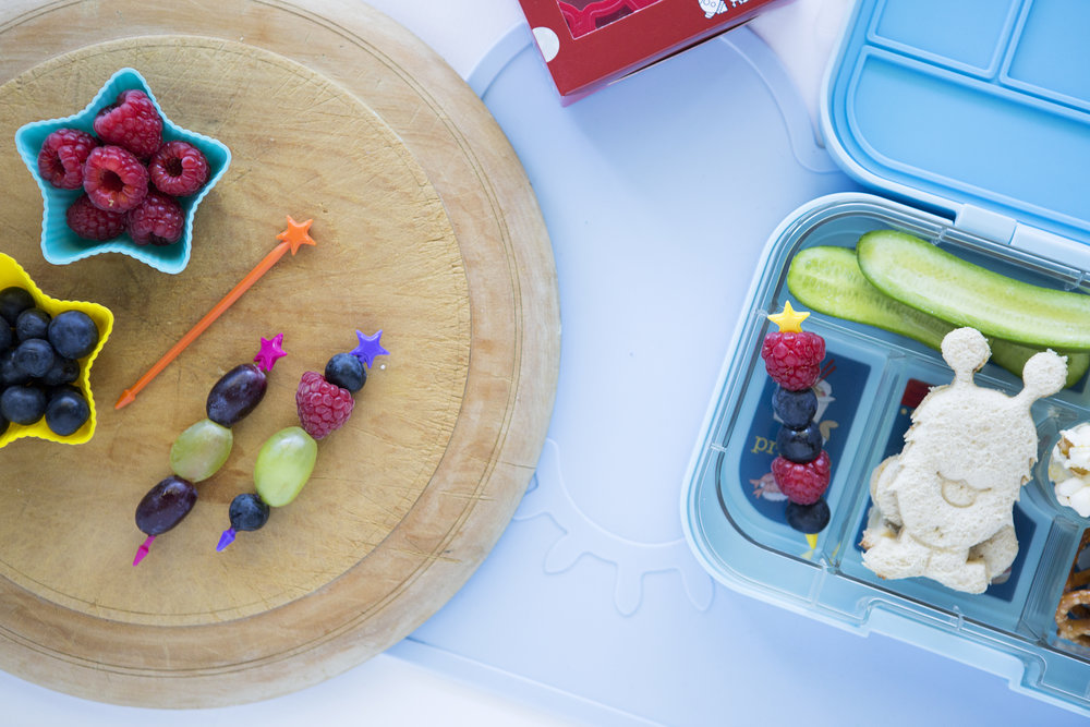 Lunch Punch Space Sandwich Cutters, Stix and Yumbox Lunchbox