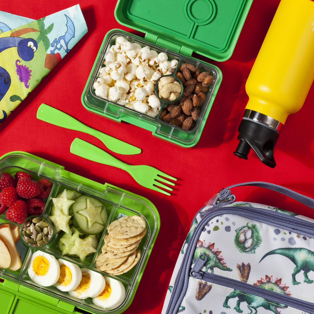 Yumbox Mini, Yumbox Classic, Montii LunchBag and Montii Water Bottle