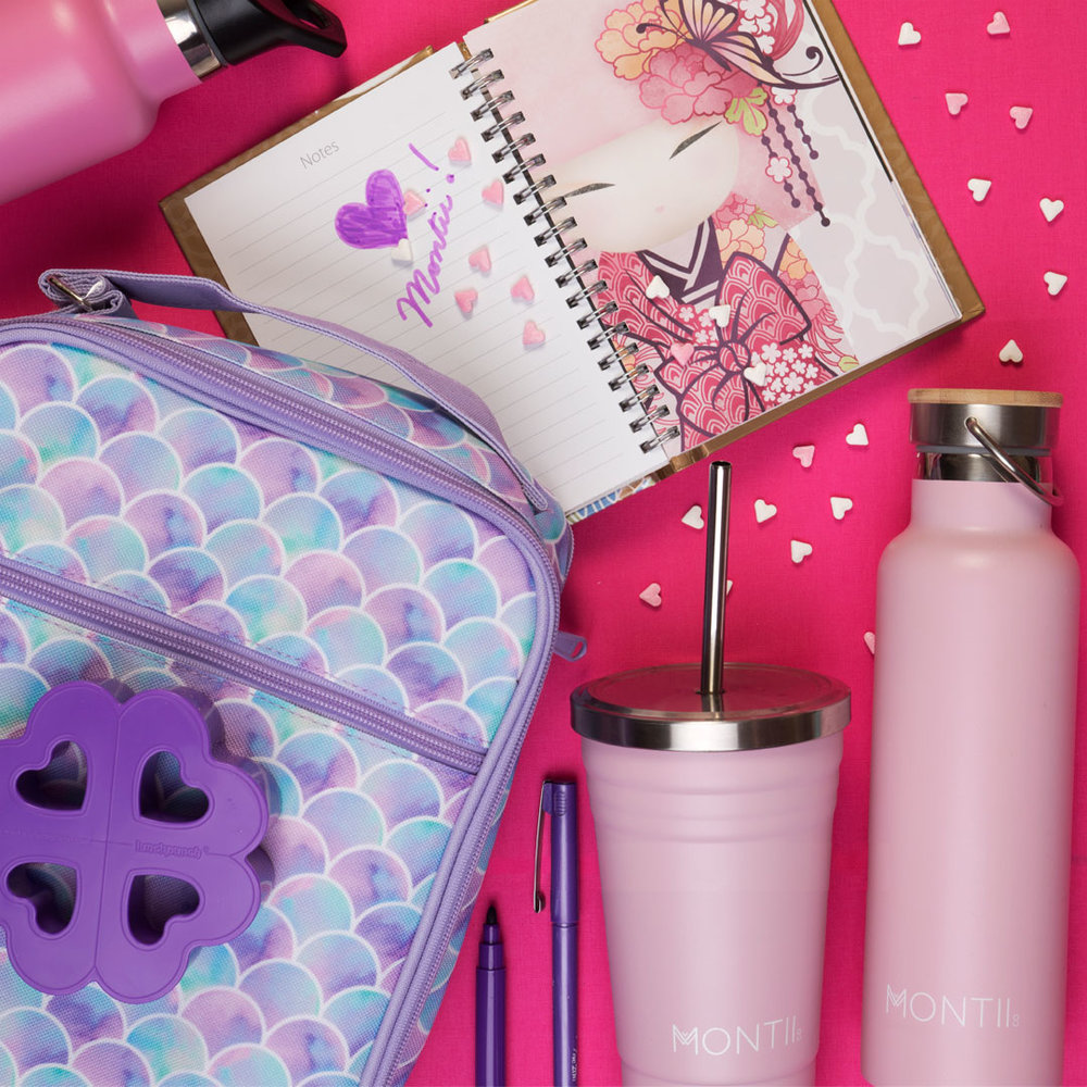 Montii Smoothie Cups, Water Bottles, Lunchbag and Cutters