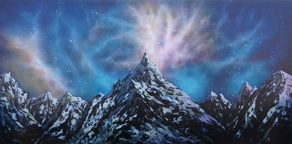 'Mountain' Acrylic on Board (90 x 185cm)