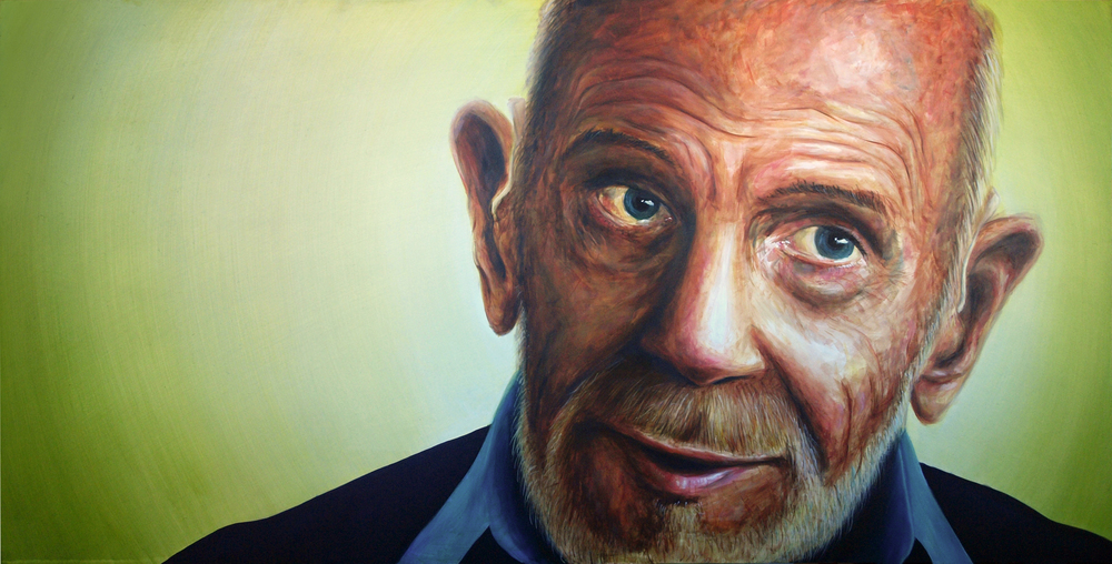 'Portrait of Jacque Fresco' Oil on Board (120 x 185cm)
