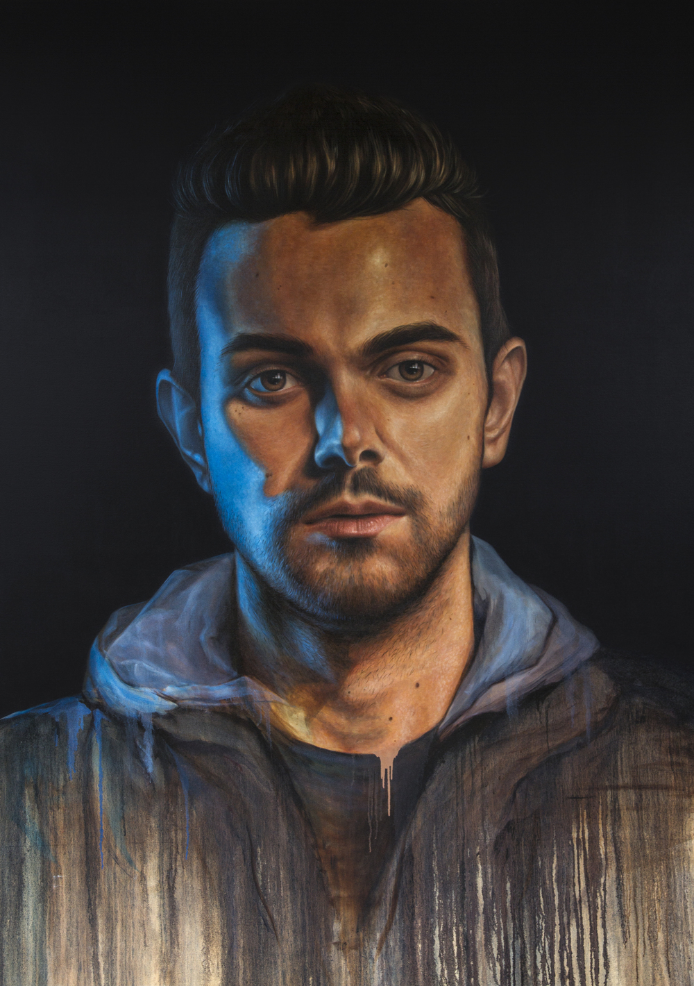 'Portrait of Tom Iansek'  Oil on Canvas (240 x 180cm) 2015