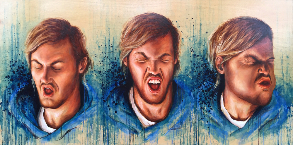 'The Sneeze' Oil on Board (122x244cm)