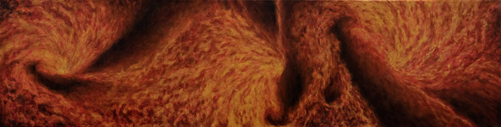 Core (160 x 40cm) Oil on Canvas