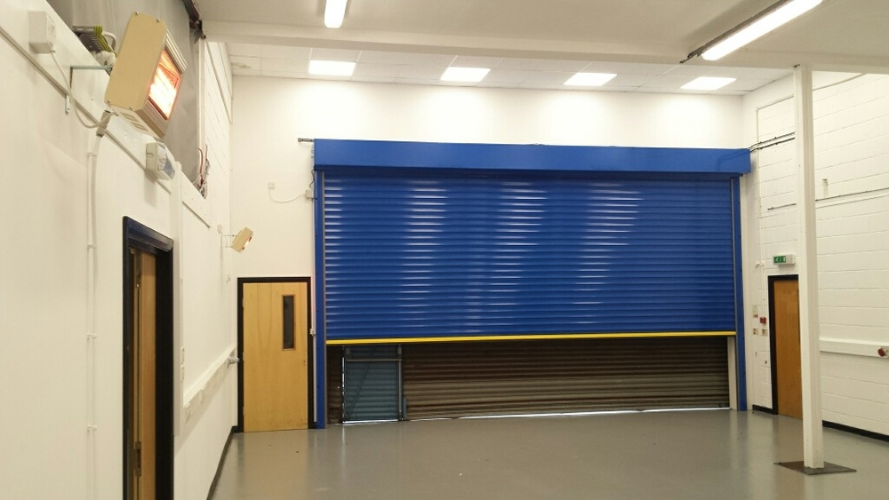 Insulating roller shutter supplied by Amber Doors