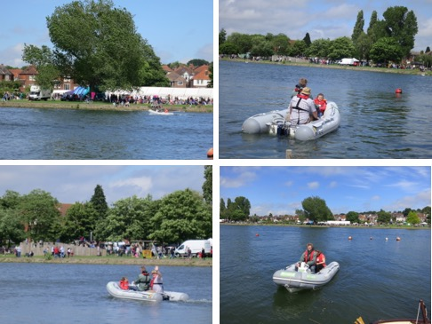 Locals enjoying the benefits of electric on the rib at Riverfest, Southampton, UK