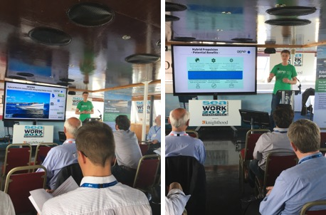 Dennis presenting at Seawork International last June