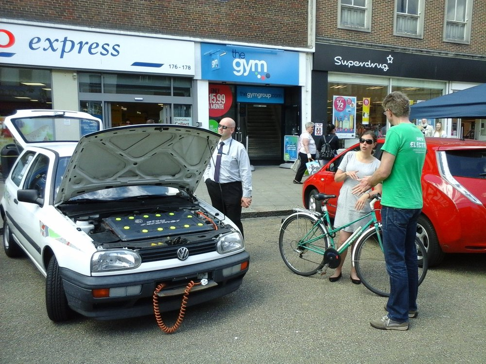 We enjoyed bringing out the old electric VW for Clean Air Day