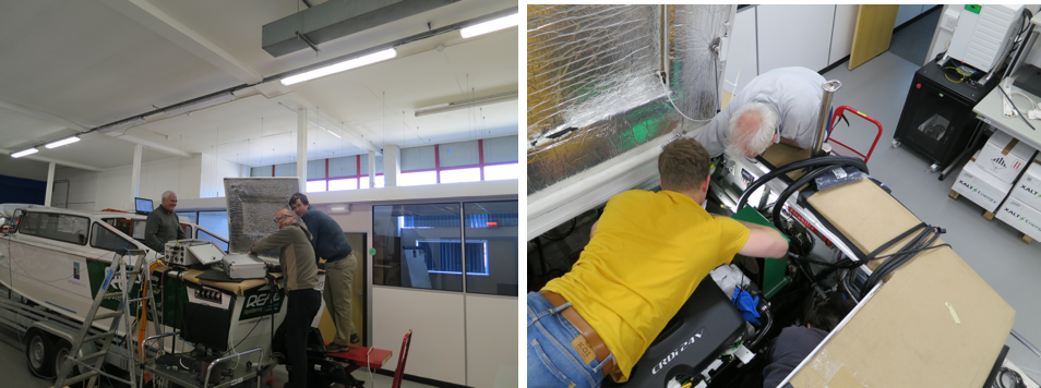 A glimpse behind the scenes - meet our glamourous team of engineers working out the final few complications!