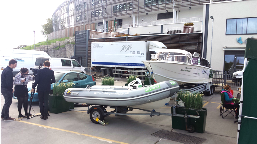 Press coverage of the Hybrid Venice Taxi Boat at The Big Green Event in Southampton.