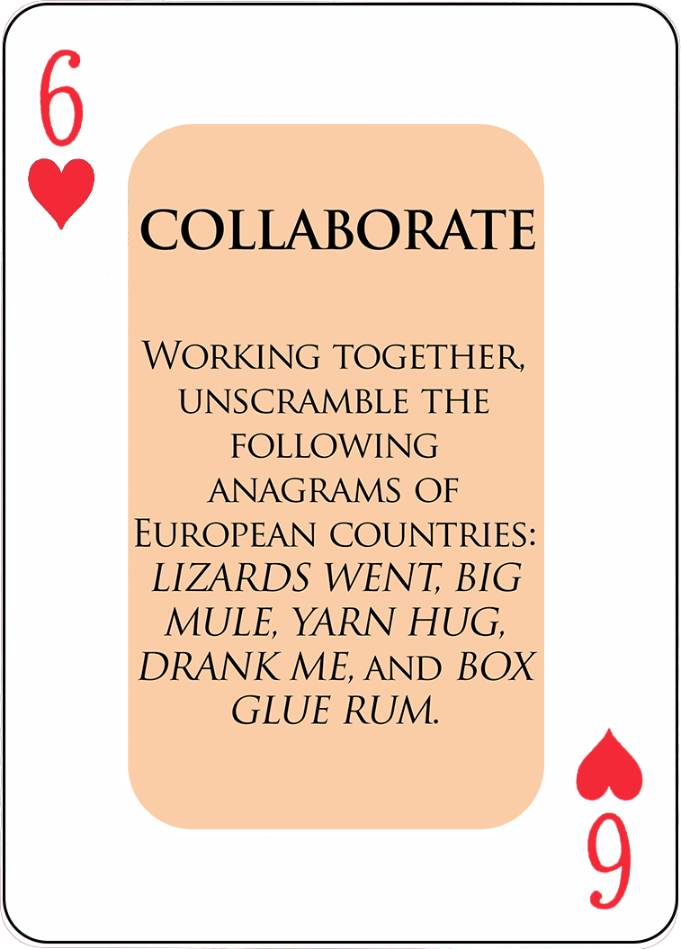 A Sample COLLABORATE Card